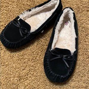 SO BRAND Black Slippers EUC